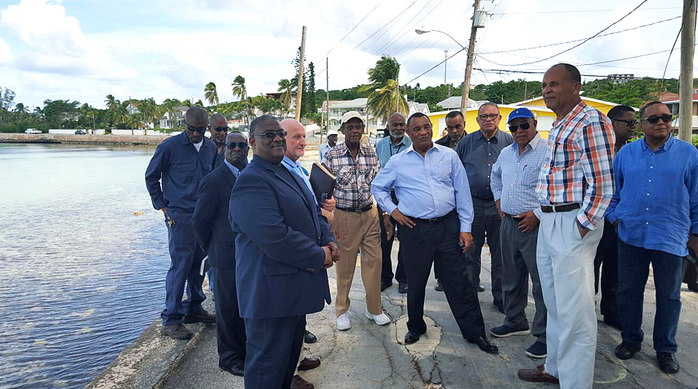 Shown in the photograph: Prime Minister, Hon. Perry Christie and purported high level officials from various government agencies, on an 'unofficial' visit to Eleuthera on Wednesday, October 26th, where we can confirm he toured a number of areas in Central and South Eleuthera, including the grounds of the proposed mini-hospital in Palmetto Point, about which some announcement is said to be expected in the coming weeks.