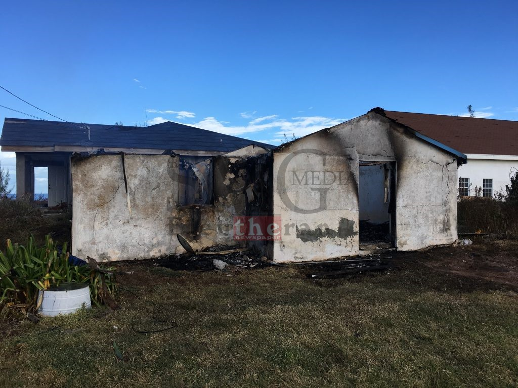 Cupid's Cay home destroyed by fire.