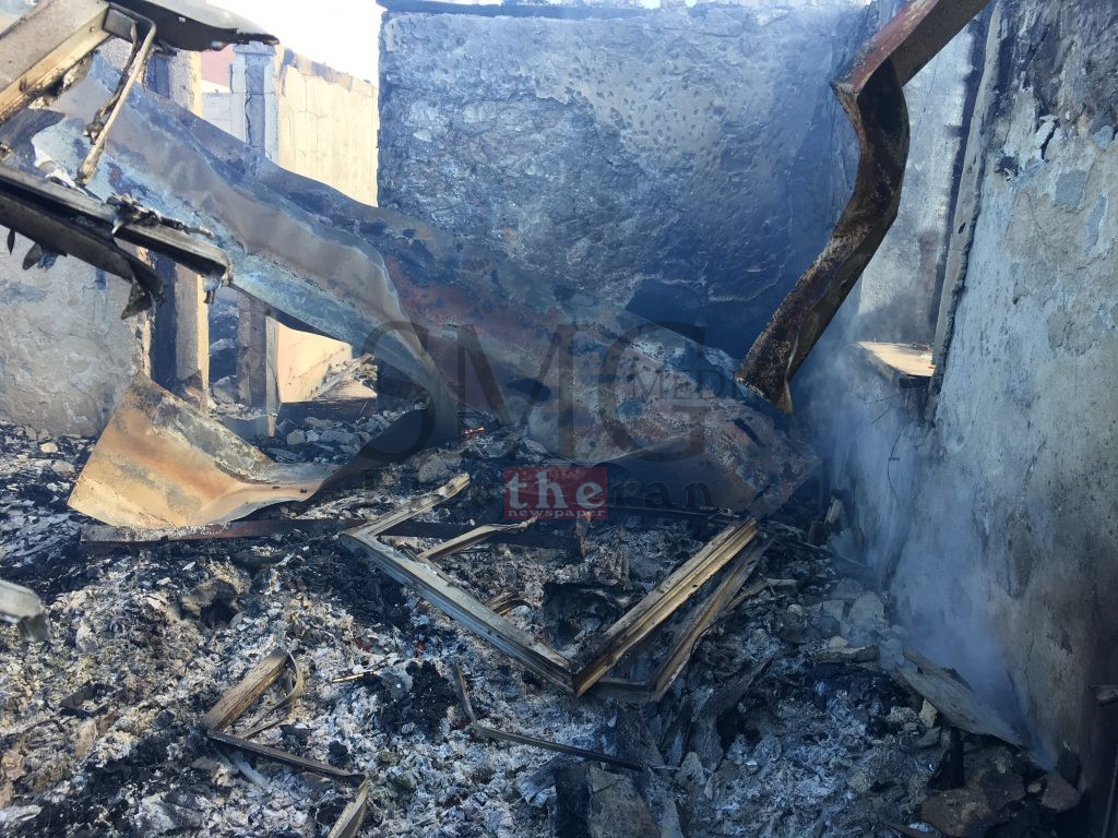 Actively smouldering room in home destroyed by fire during the early morning hours on Thursday, October 13th, 2016.