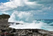 File photo: Atlantic coastline, just north of the Glass Window bridge during raging seas.