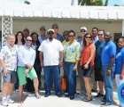 Visiting Young Presidents Organization (YPO) group poses for a photo along with One Eleuthera Foundation and Centre for Training and Innovation (CTI) representatives. Pictured from front row, left to right: YPO's Len Rosen, Cameron Symonette, Rafique Symonette, Patricia Hermanns, Kay Stone, Troy D'Arville, Errol McPhee, CEO(CTI), Audrey Carey (CTI) & Steve Galanis (CTI). Back Row: Maisie Thompson (OEF), Muna Issa (YPO), Mario Carey (YPO), Dania Anderson (OEF), John Robertson (YPO), Paolo Garzaroli (YPO), Felix Stubbs (YPO), Robert d'Albenas (YPO), Shaun Ingraham, CEO (OEF).