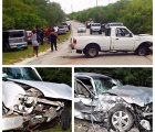 Scene of the two car accident