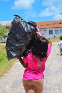 Campers removed nearly 2,000 pieces of litter in under 45 minutes