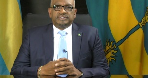 Prime Minister Minnis, addressing the nation on Wednesday evening, July 26, 2017.  (BIS Photo)