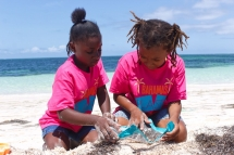 Young campers conduct microplastic survey