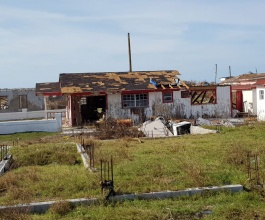One of the many small buildings destroyed on Ragged Island