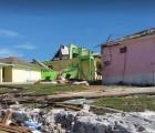 Damage in Ragged Island, Southern Bahamas, caused by Hurricane Irma