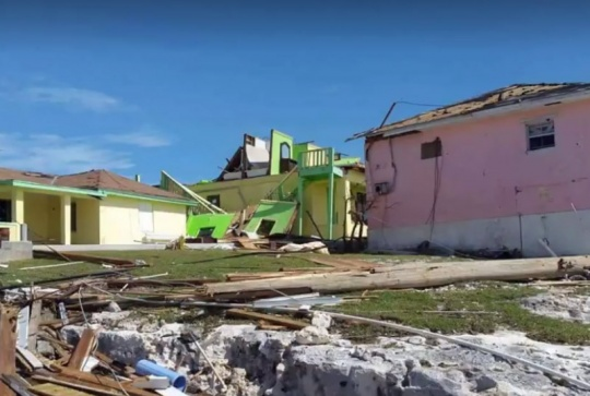 Damage in Ragged Island, Southern Bahamas, caused by Hurricane Irma