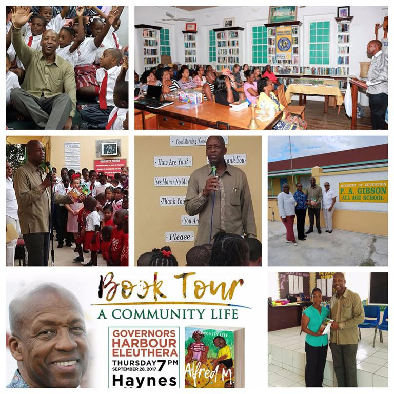Mr. Alfred Sears visited with the Primary schools throughout Central Eleuthera, during his 'A Community Life' book tour.