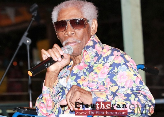 File Photo; Legendary Bahamian Entertainer Ronnie Butler at the Hatchet Bay Fest, August 2017.