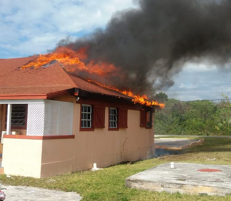 Triplex in Lower Bogue on fire.