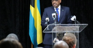 Prime Minister, Dr. the Hon. Hubert Minnis addresses the official opening of a Workshop on the Freedom of Information Act, 2017, hosted by the Office of the Attorney General and Ministry of Legal Affairs, at the Paul H. Farquharson Conference Centre, Police Headquarters, on April 23, 2018.  (BIS Photo/Derek Smith)