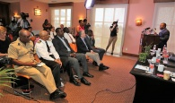 CONFERENCE LAUNCHED –The Bahamas Blockchain and Cryptocurrency Conference was officially announced during a press conference on Thursday, May 24, 2018.  Minister of State for Grand Bahama in the Office of the Prime Minister, Senator the Hon. J. Kwasi Thompson said the conference will be held June 20 to 22, and it is hoped that representatives from 500 tech companies will attend.  (BIS Photo/Lisa Davis)