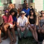 Members of the Rotaract Club of Eleuthera pose for a picture with visiting Rotaractors Alexandra, Areli and Franziska.