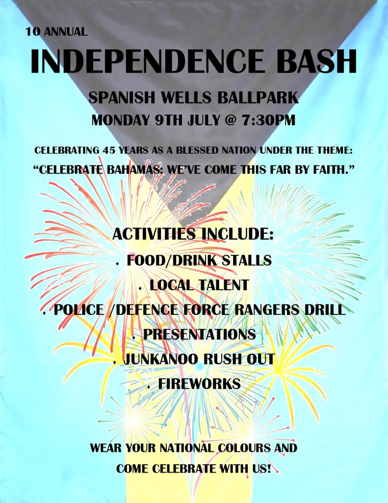 Spanish Wells Independence Bash Schedule