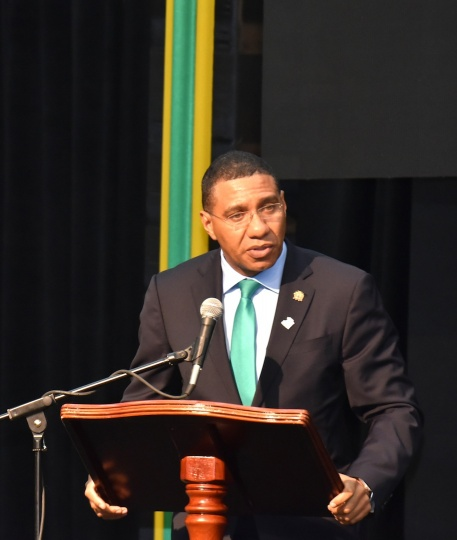 Chairman of CARICOM, the Most Hon. Andrew Holness, Prime Minister of Jamaica.