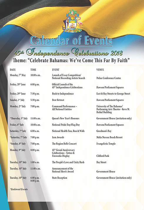 National Independence Celebration Events - Hosted in New Providence.