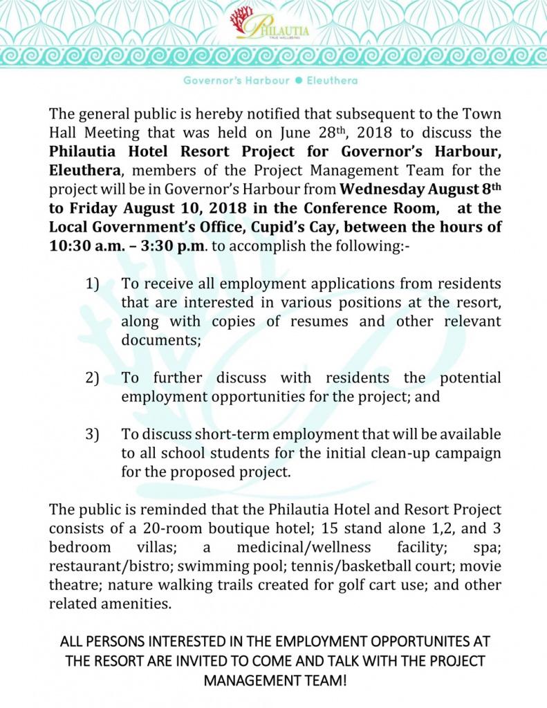 Philautia Announcement
