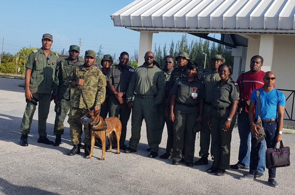 Immigration Team from Nassau on the ground in Eleuthera.