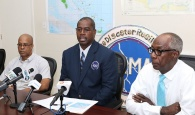 aptain Stephen Russell, Director of NEMA, speaks at a Press Briefing, Tuesday, September 11, 2018.
