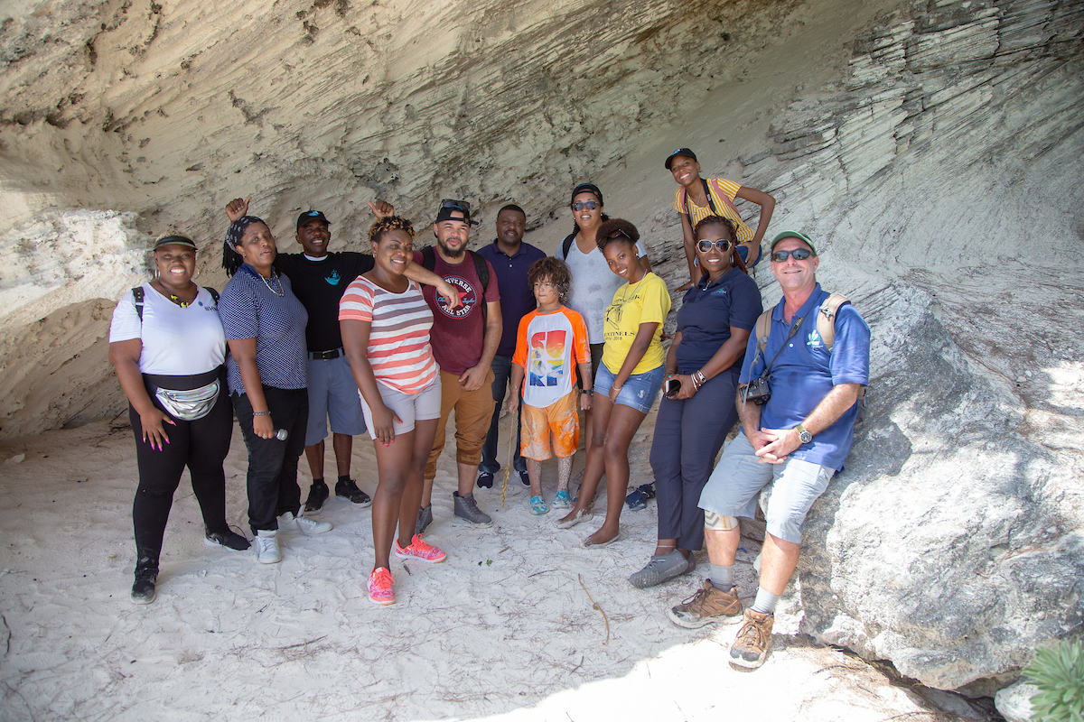 With the help of local residents, One Eleuthera and the wider environmental coalition, radio and social media personalities got a guided tour of the beautiful Lighthouse Point and its surrounding areas including the seaside cave structures on lighthouse beach.