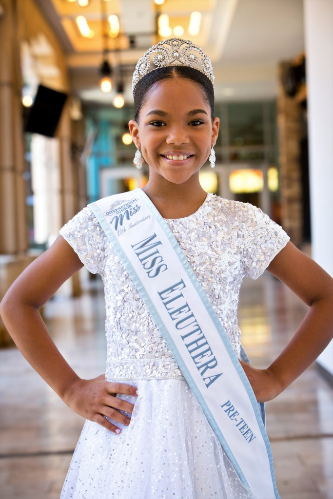 Kaynia Minnis, young sixth grader at the Laura L. Anderson Primary school in The Bluff, North Eleuthera.