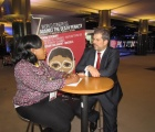 Bahamas Press Club Member, broadcast journalist Deandrè Williamson attended the 7th World Conference Against Death Penalty, in Brussels from February 26 to March 1st, 2019. She is pictured at the European Parliament interviewing ECPM Executive Director, Raphael Chenuil-Hazan.