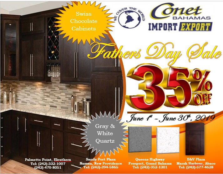 Father's Day Sale at CONET Bahamas (June 1st – June 30th)