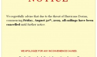 Cancellation Notice 8.29.19