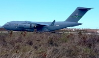 U.S. Air Force C-17 lands at Marsh Harbour, Abaco