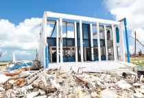 Devastated church site in Dundas Town, Abaco.