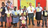 Nine speakers decked smartly in their uniforms representing schools from North to South eleuthera.
