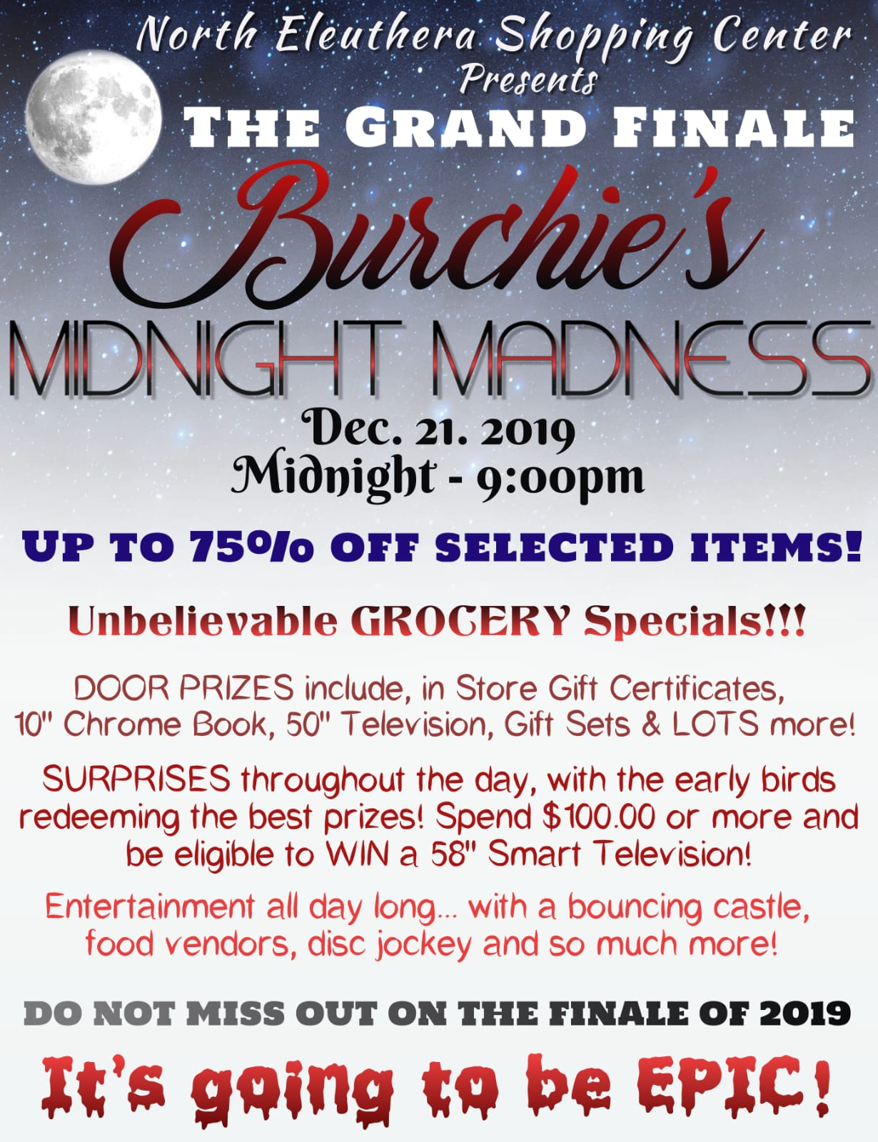 Burchie Midnight Madness Sale - Dec 21