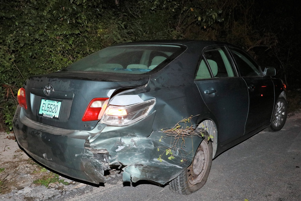 Toyota Camry vehicle involved in a three-car collision on Friday, January 31st, 2020.