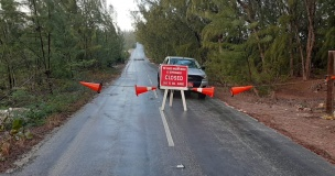 Glass Window Bridge now officially closed due to dangerous weather conditions.