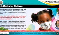 Children and face masks poster