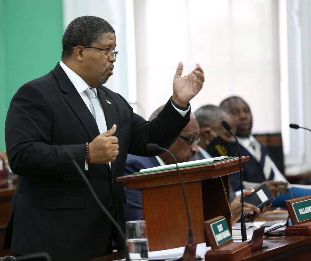 Deputy Prime Minister and Minister of Finance the Hon. K. Peter Turnquest presented the 2020/21 Budget Debate Opening Statement in the House of Assembly, Monday, June 8, 2020.  (BIS Photo/Patrick Hanna)