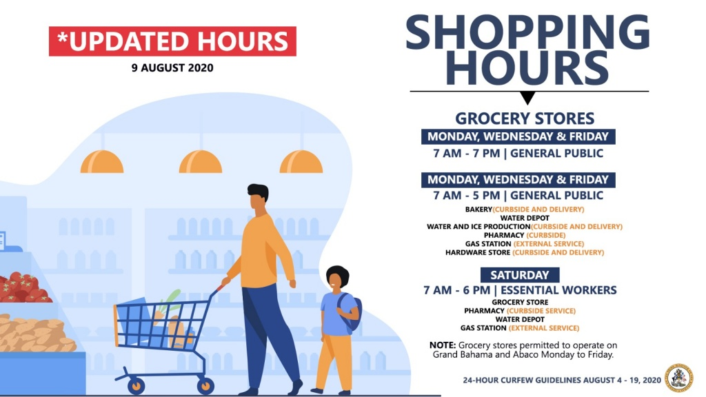Extended Shopping Hours - As of Aug 10