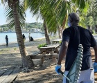 GH Beach cleanup - Paul Simmons ready with rake