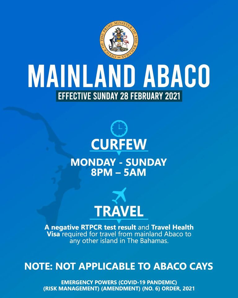 New Abaco curfew extension