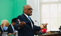 Prime Minister Hubert Minnis presenting his speech in the House of Assembly on Monday, June 21st, 2021.