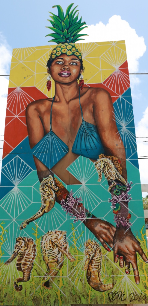 Full Fathom Five Mural, 2021, DeDe Brown, Gregory Town Pineapple Festival Park, Eleuthera