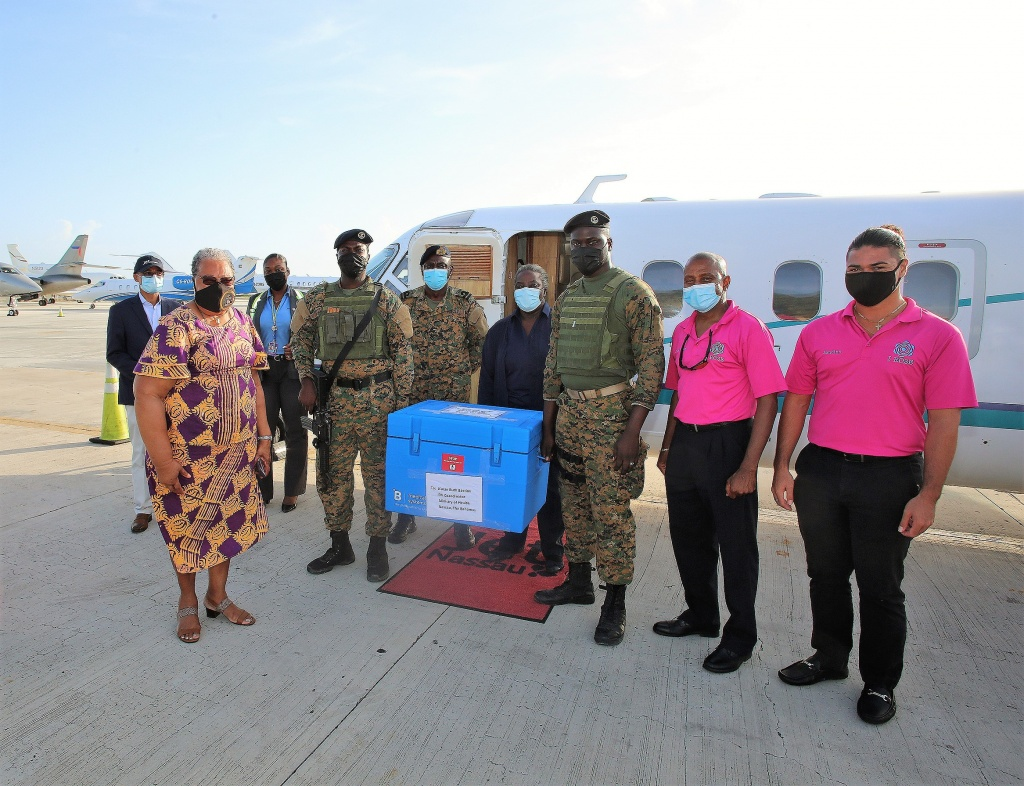 National COVID-19 Vaccine Consultative Committee receives 3,496 vaccines as a result of donations from UK Overseas Territories, Anguilla and Montserrat.
