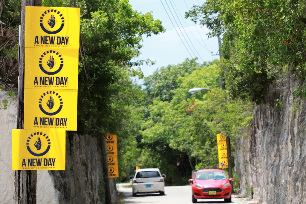 PLP party paraphernalia dotted the Eleuthera highway as well as township byways ahead of the 2021 Bahamas General Election.