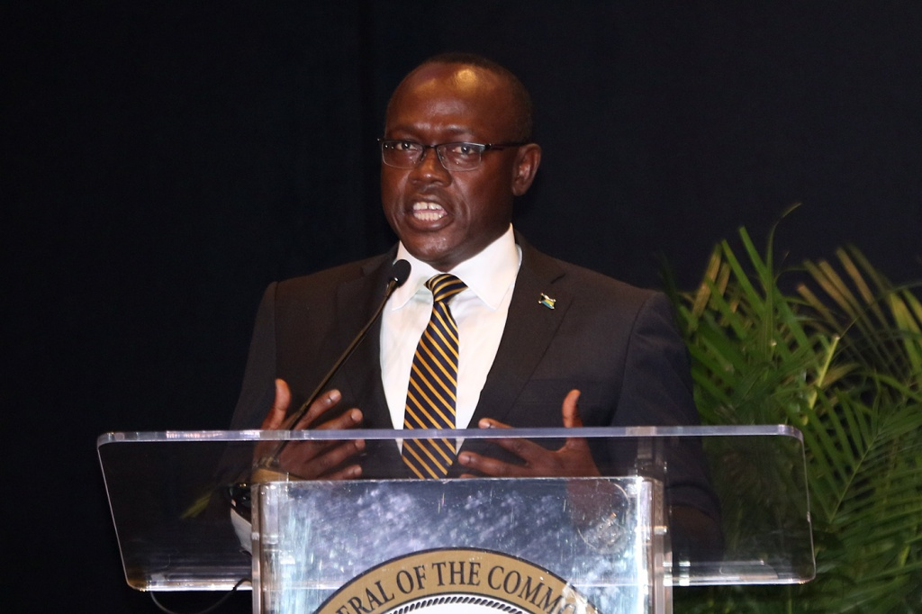 The Hon. I. Chester Cooper, Minister of Tourism, Investment and Aviation.