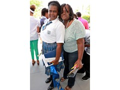 Happy smiles following the ceremony for this graduate - Kendeisha Thompson and her mom - 490A7691
