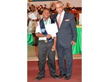 Mr. Joshua Culmer and Christano Delancy of the CEHS  Class of 2016 -  490A7015