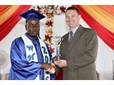 Errin Thompson of the WHS Class of 2016 with Vice Principal Mr. Flunker - 490A3258