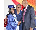 Ivanna Ferguson of the WHS Class of 2016  with Principal Ms. Gibson and Dr. Gibson - 490A3309