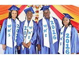 Windermere High School Class of 2016 Graduates: (L-R), Brittany Ingraham (Salutatorian), Naaman Rolle (Valedictorian), Errin Thompson, and Ivanna Ferguson- 490A3332 (2)
